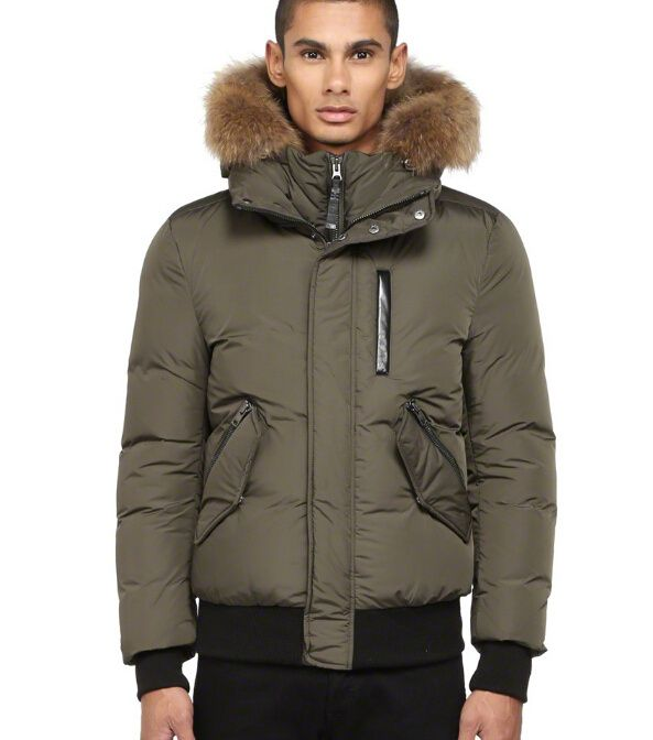 Mens Bomber Jacket With Fur Hood Photo Album - Reikian