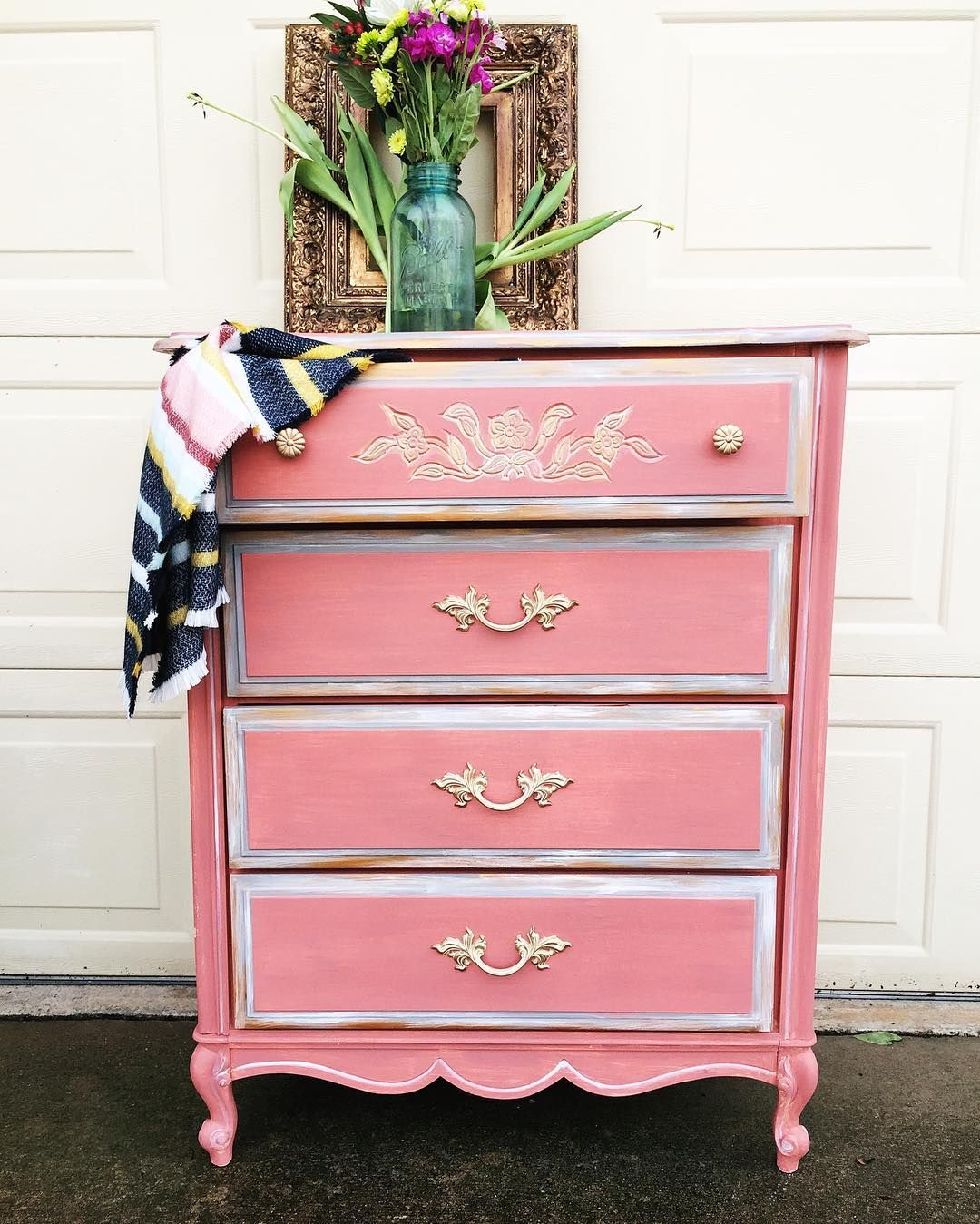 Small French Provincial Dresser Painted With Chalk Paint In Scandinavian Annie Sloan Painted Furniture French Provincial Dresser Painted Furniture Inspiration