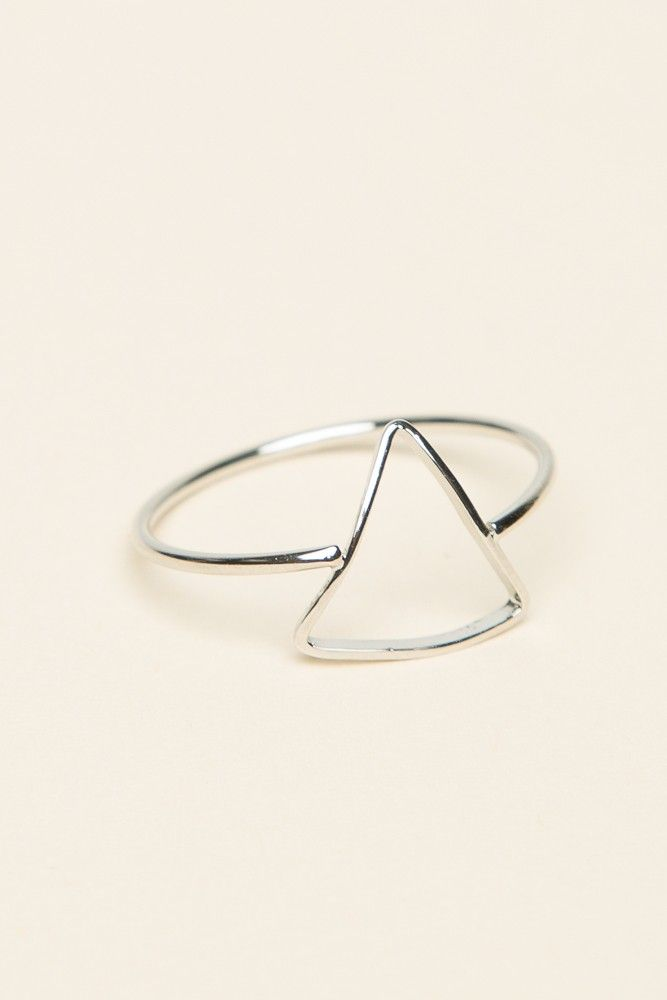 Brandy ♥ Melville | Silver Open Triangle Ring - Accessories
