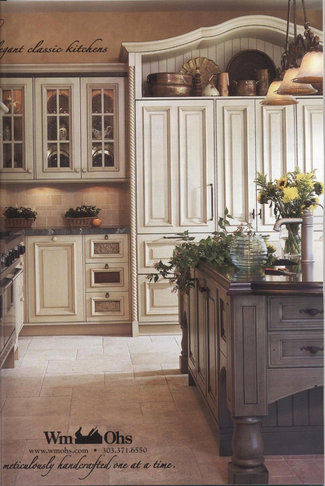 William Ohs Kitchen With Estelle Faucet Country Kitchen Cabinets French Country Kitchen Cabinets Country Kitchen Designs