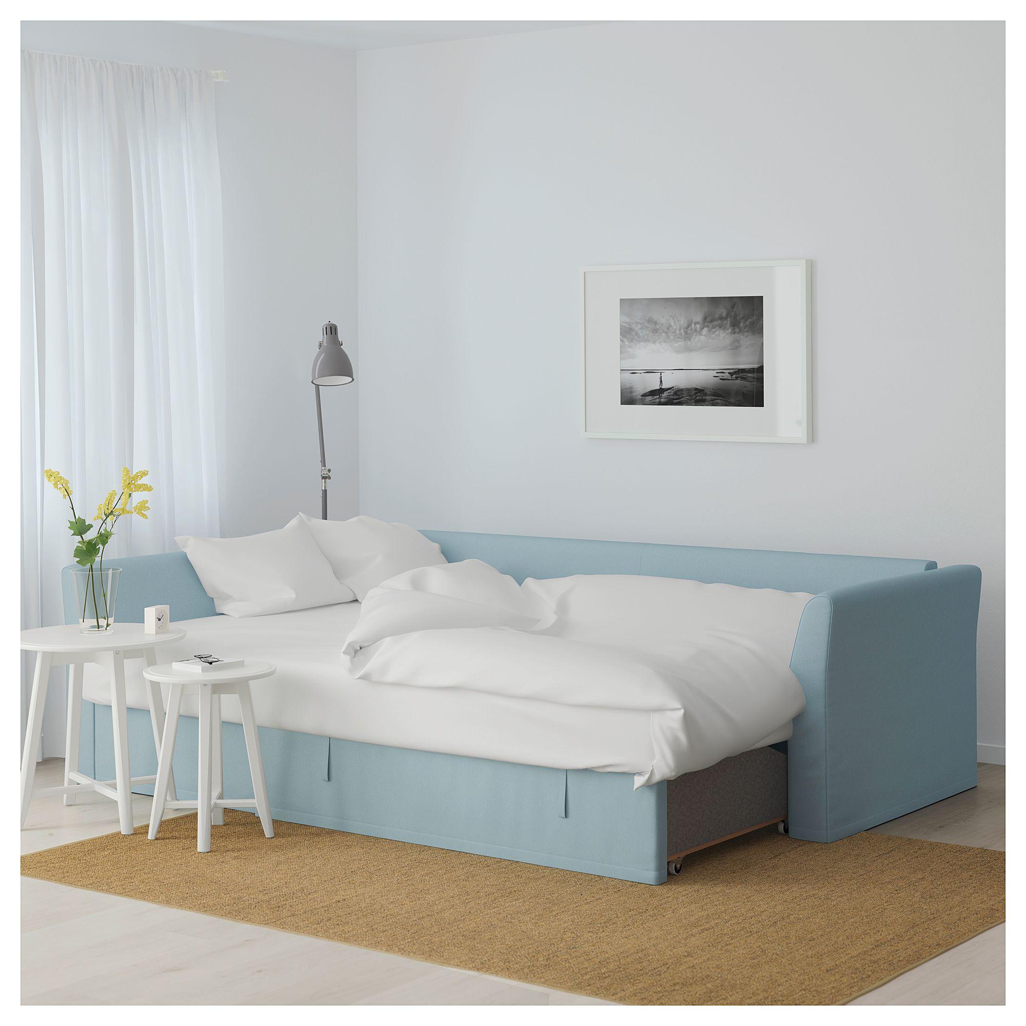 IKEA HOLMSUND Corner sofabed Orrsta light blue Sofa