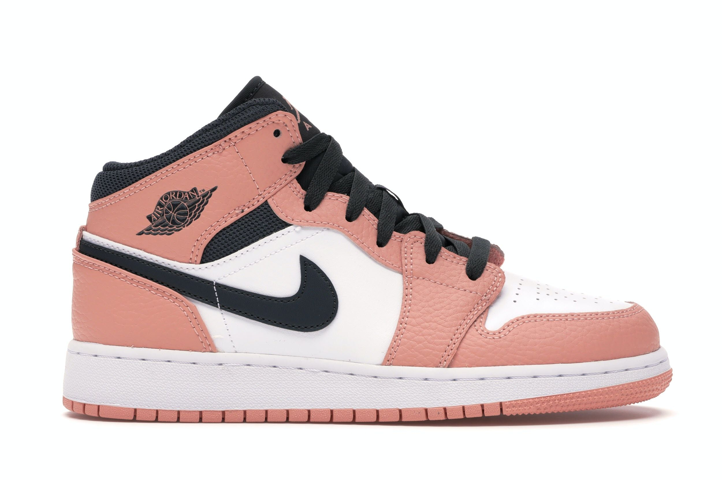 Jordan 1 Mid Pink Quartz (GS) in 2020 Pink jordans, Pink