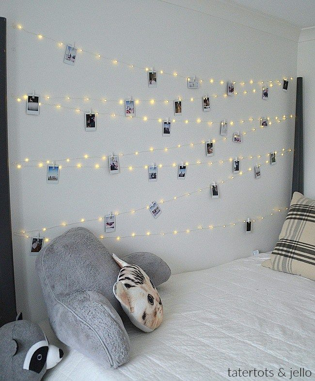 Tween / Teen Fairy Light Fotowand #teenroomdecor