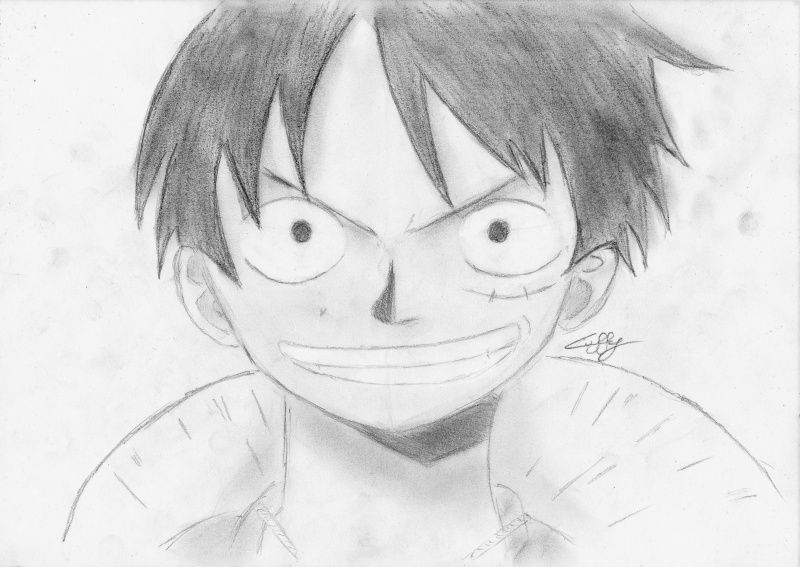 Comment Dessiner Luffy De One Piece One Piece Pinterest Manga