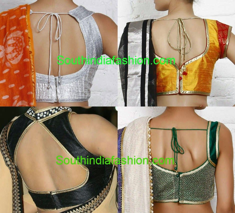 Blouse designs saree blouse back designs blouses neck designs 30 jpg - 50 Simple Stylish And Trendy Blouse Back Neck Designs Celebrity Sarees Designer Sarees