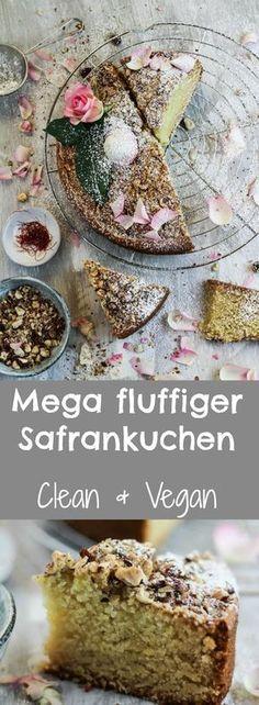 Mega fluffiger veganer Safrankuchen Vegans and Food - mega küchenmarkt stuttgart
