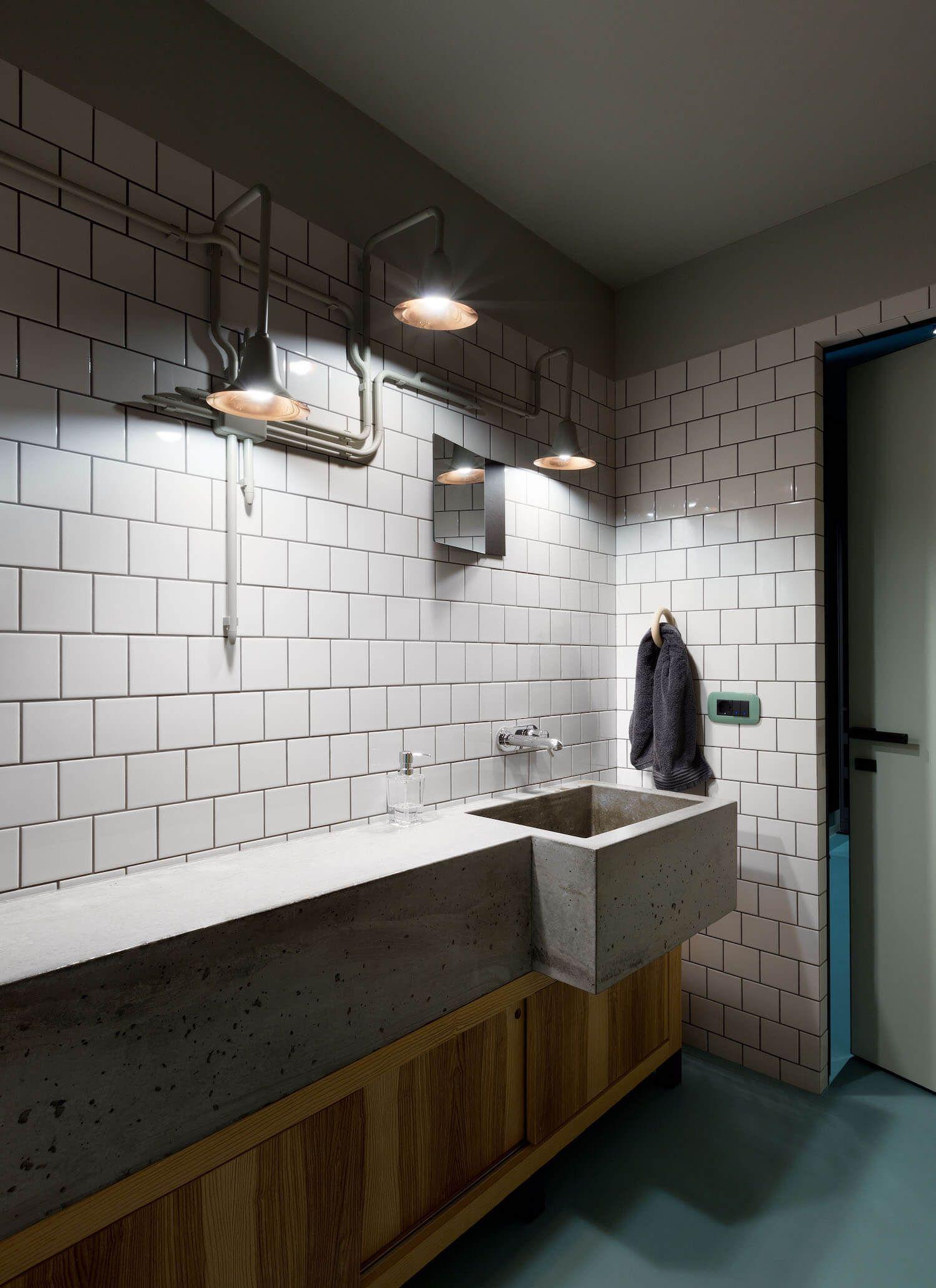 bathroom the green apartment by special project venediktov est living green apartmentapartment designkitchen interiorsubway tilespowder