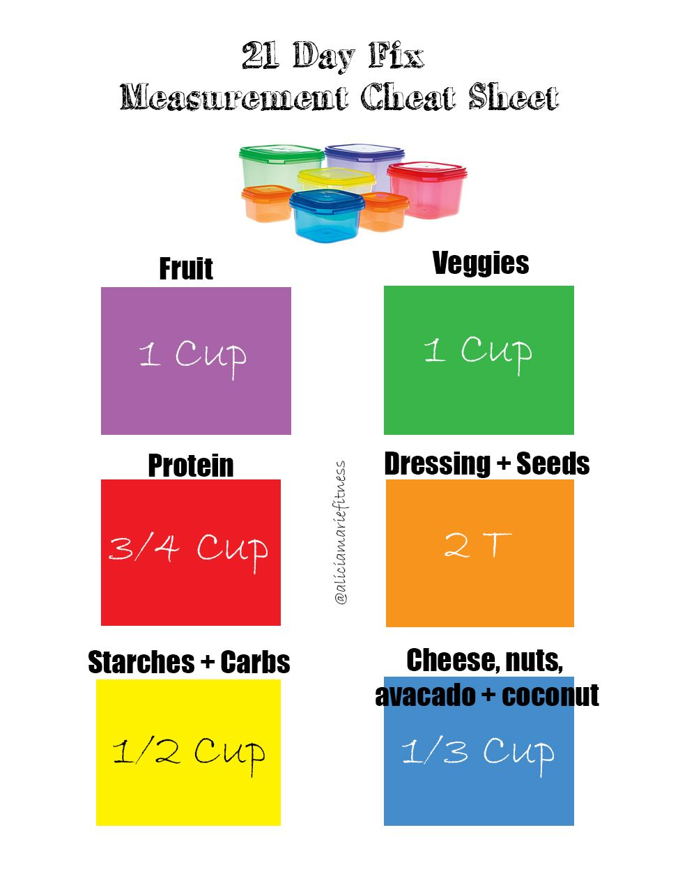day fix cheat sheet free measurement chart to help you keep track and lose weight also rh pinterest