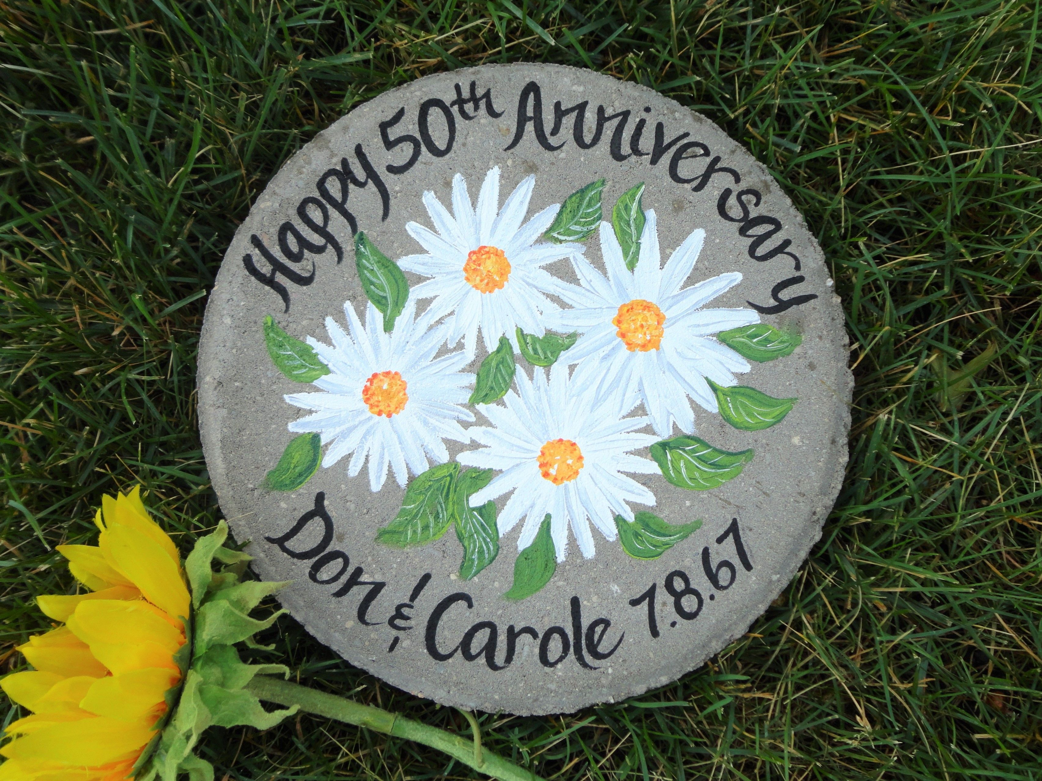 Daisy anniversary stone in 2020 bride and groom gifts
