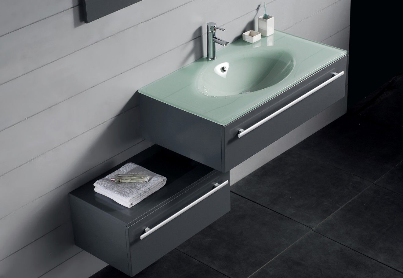 Modern Bathroom Vanity Set  Triton  Moh  Sinks  Pinterest Cool Modern Bathroom Vanity 2018