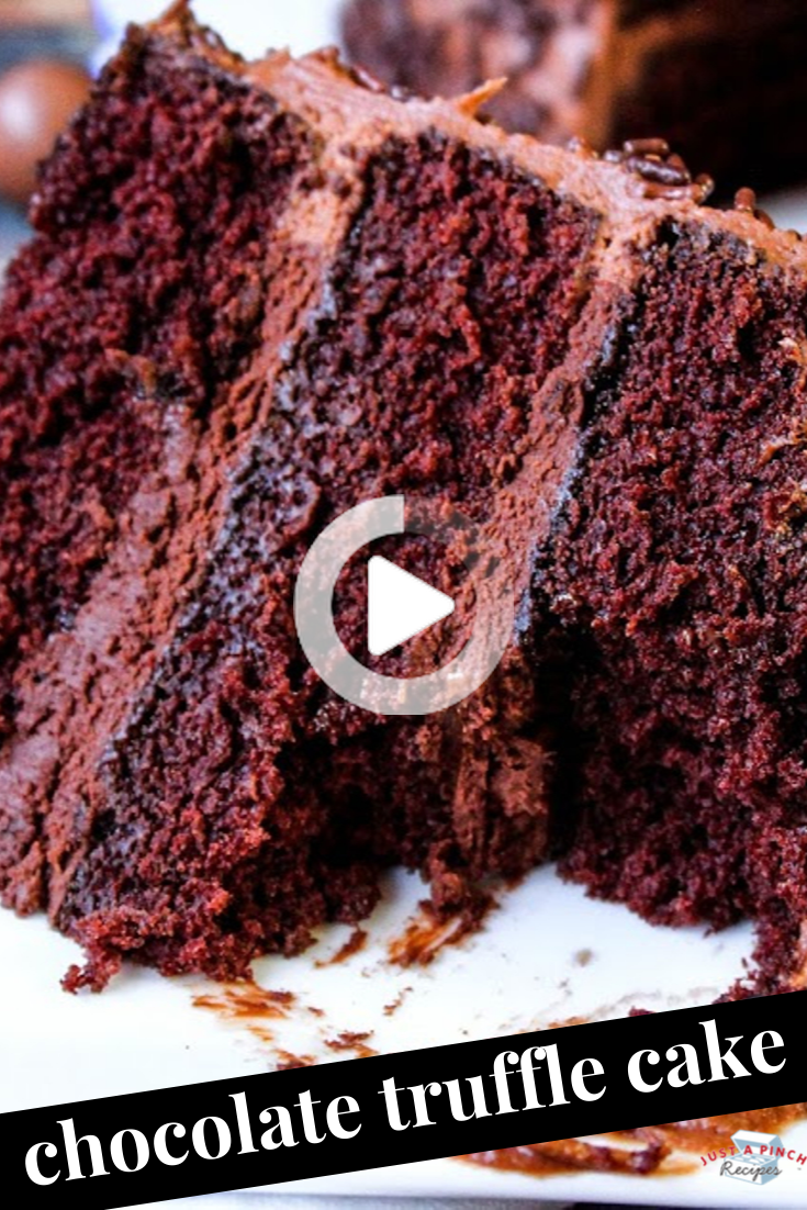 Chocolate Truffle Cake Cake Truffles Chocolate Recipes Chocolate Cake