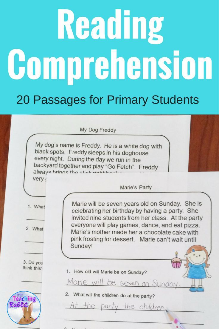 - Reading Comprehension Passages And Questions (Second Grade) (With