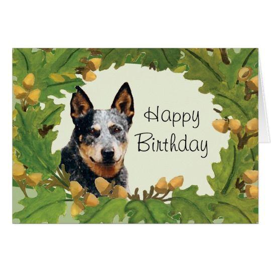 Australian Cattle Dog Happy Birthday Card Zazzle Com Au Cattle Dog Australian Cattle Dog Happy Birthday Cards