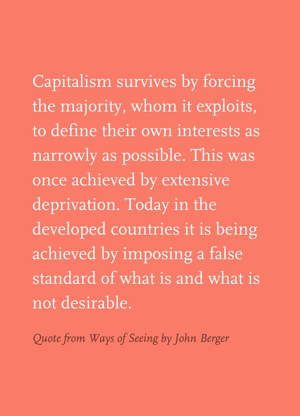 quote from ways of seeing by john berger occupy  john berger ways of seeing essay quote from ways of seeing by john berger