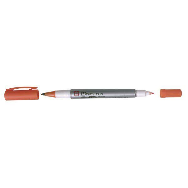 Identi Pen Extra Fin Dble Pointe Orange Feter Et Recevoir