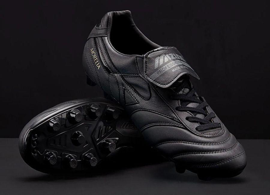 detailed look a8c5f 2e981  football  soccer  futbol  Mizunofootball Mizuno Morelia II Leather Made in  Japan - Black   Black   Black