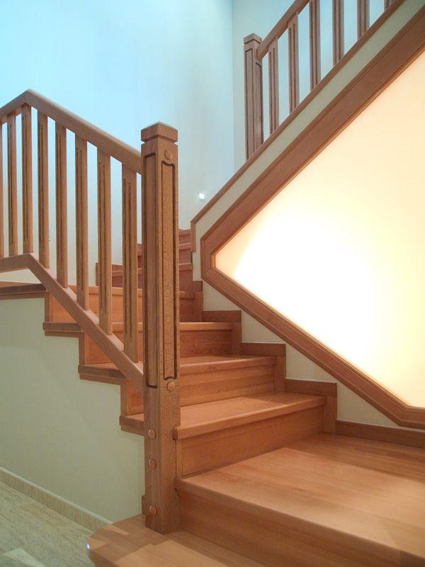 Torneados fuentespalda barandillas y escaleras de madera forja hierro acero inoxidable y - Escaleras de obra ...