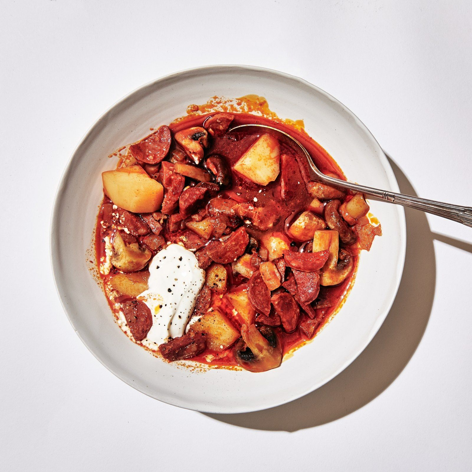 43 Ways To Cook With Canned Tomatoes Your Pantry Hero In 2020 Chorizo And Potato Stew Recipes Stewed Potatoes