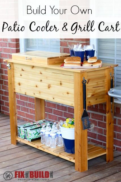 DIY Patio Cooler Grill Cart Plans