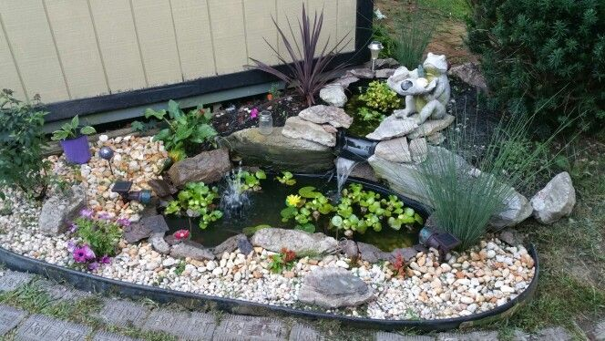 Easy to do corner garden pond preformed liners and some for Easy backyard pond