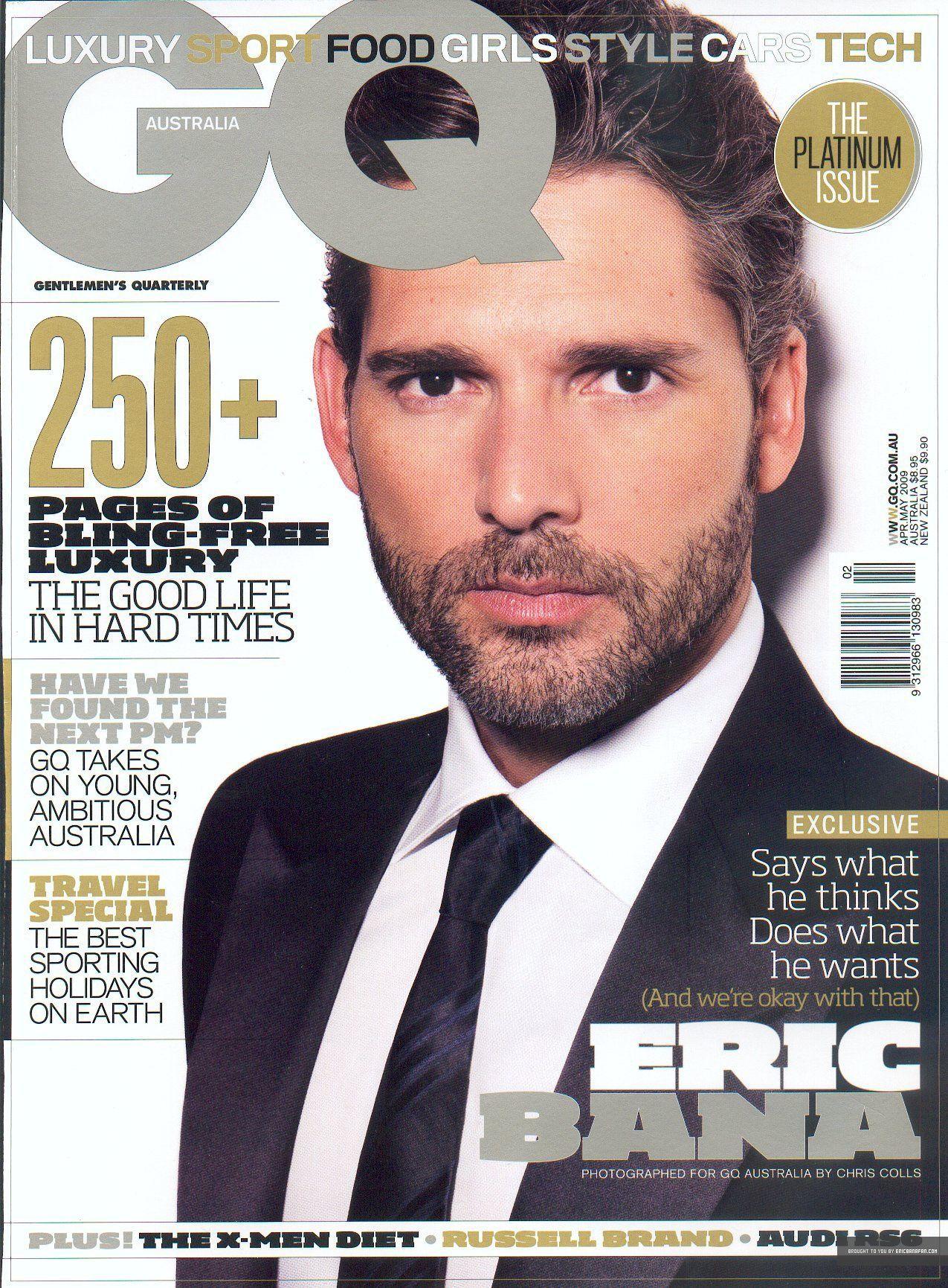 Gq Magazine Australia March 2009 Gq Magazine Covers People Magazine Eric Bana