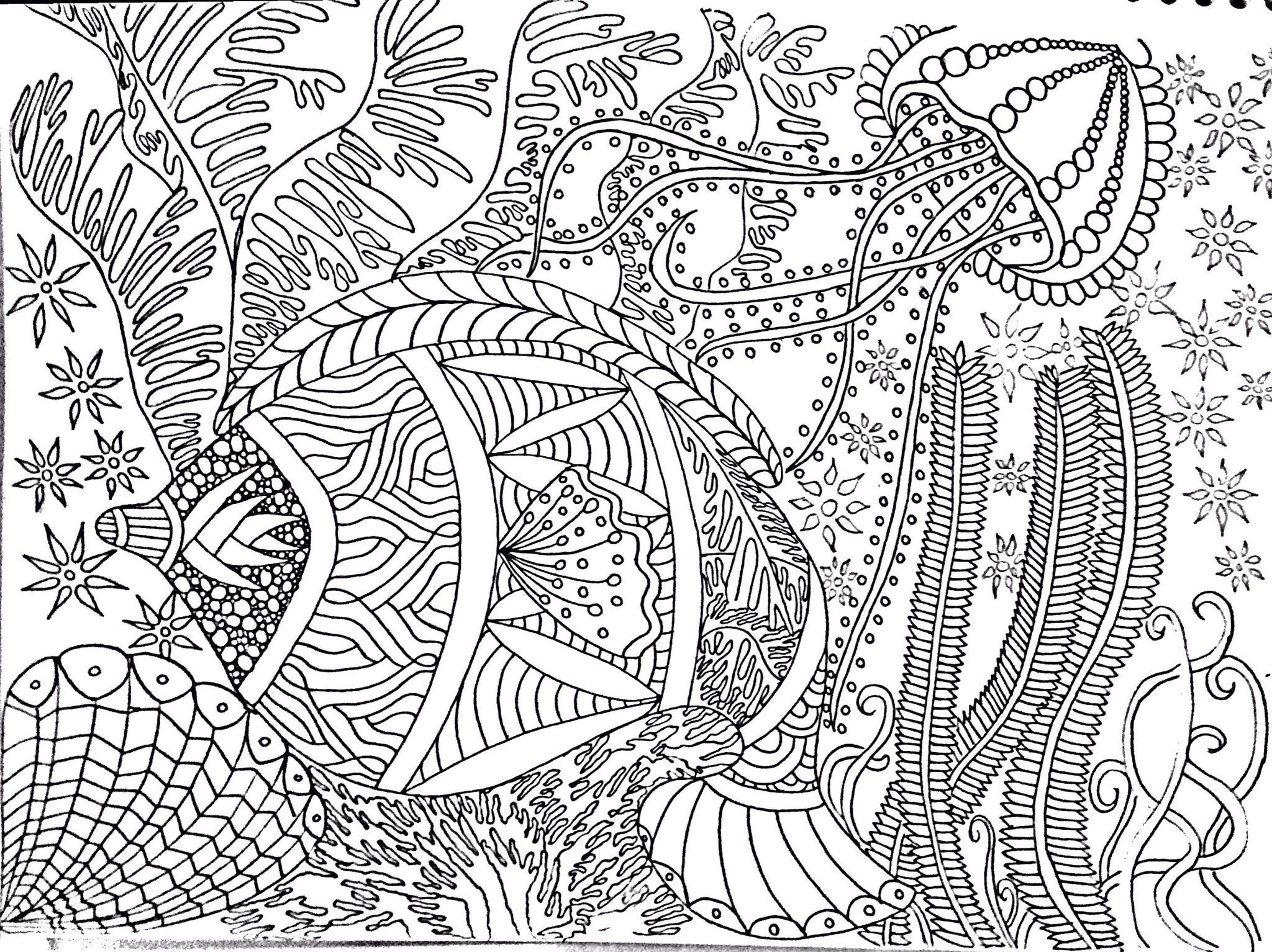 Coloring Free Page Under The See Desenho Para Colorir Anti