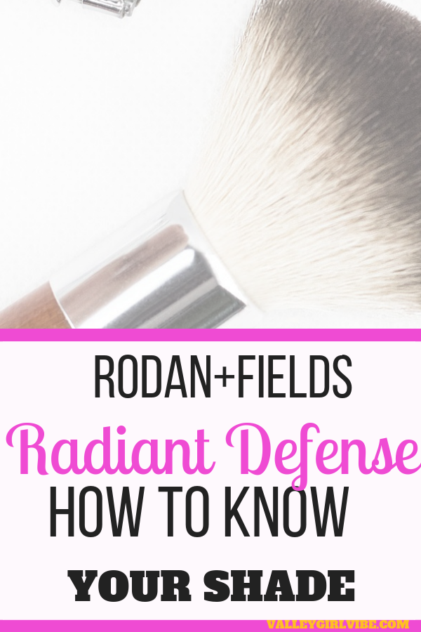 Rodan+Fields Radiant Defense comes in 6 shades. There is