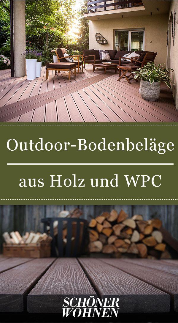 Bodenbeläge aus WPC & Holz