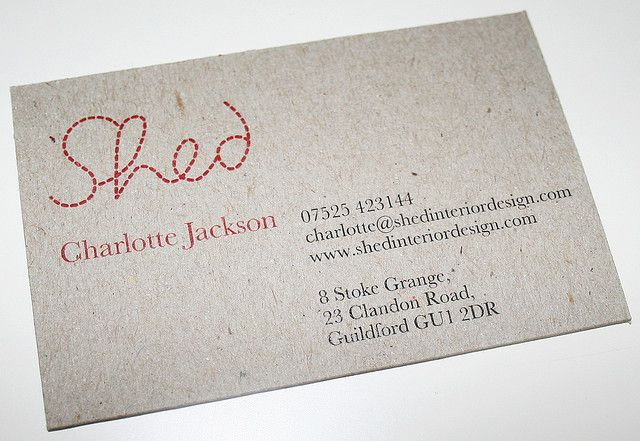 Shed Business Card Face Recycled Paper Business Cards Interior Designer Business Card Printing Business Cards