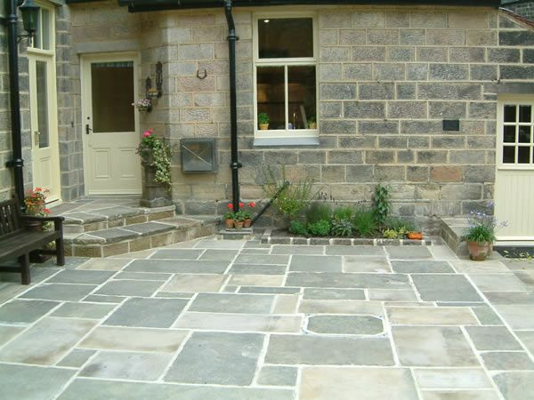 reclaimed yorkshire stone patio olive garden design and landscaping