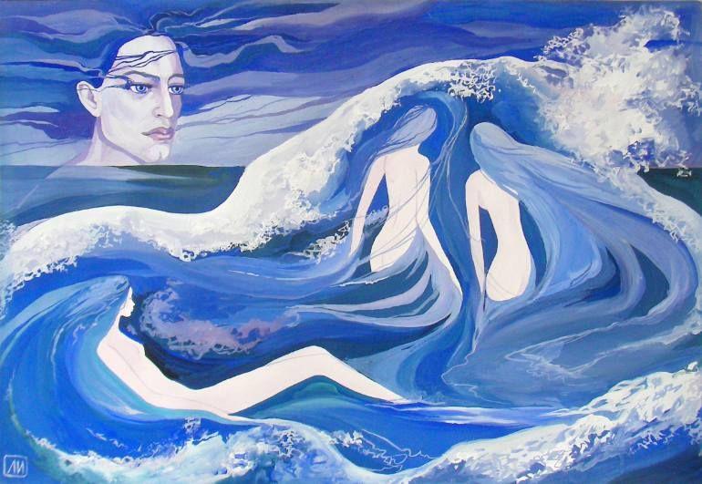 """Saatchi Art Artist Larisa Ilchenko; Painting, """"The sea wind"""" #art"""