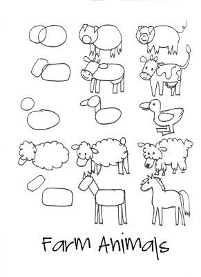 Image of: Vector How To Draw Farm Animals Pinterest How To Draw Farm Animals How To Draw Farm Animals Pinterest