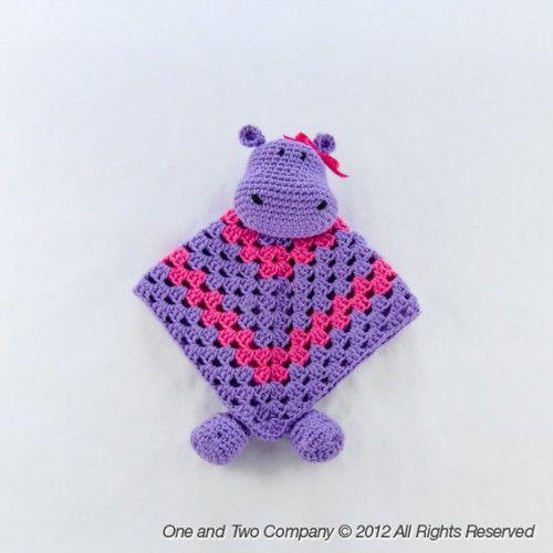 Hippo Security Blanket Crochet Pattern