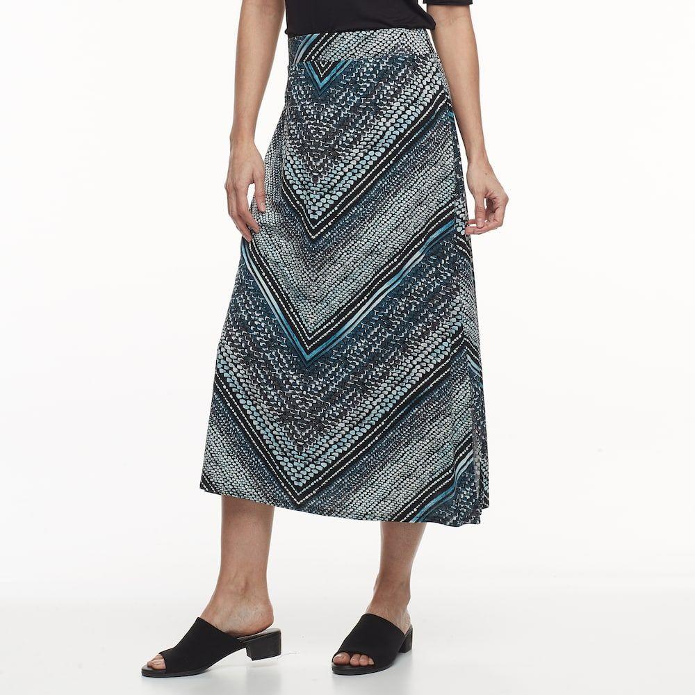 dd0e70b6d Petite Dana Buchman Slit Maxi Skirt   Products   Midi skirt, Skirts ...