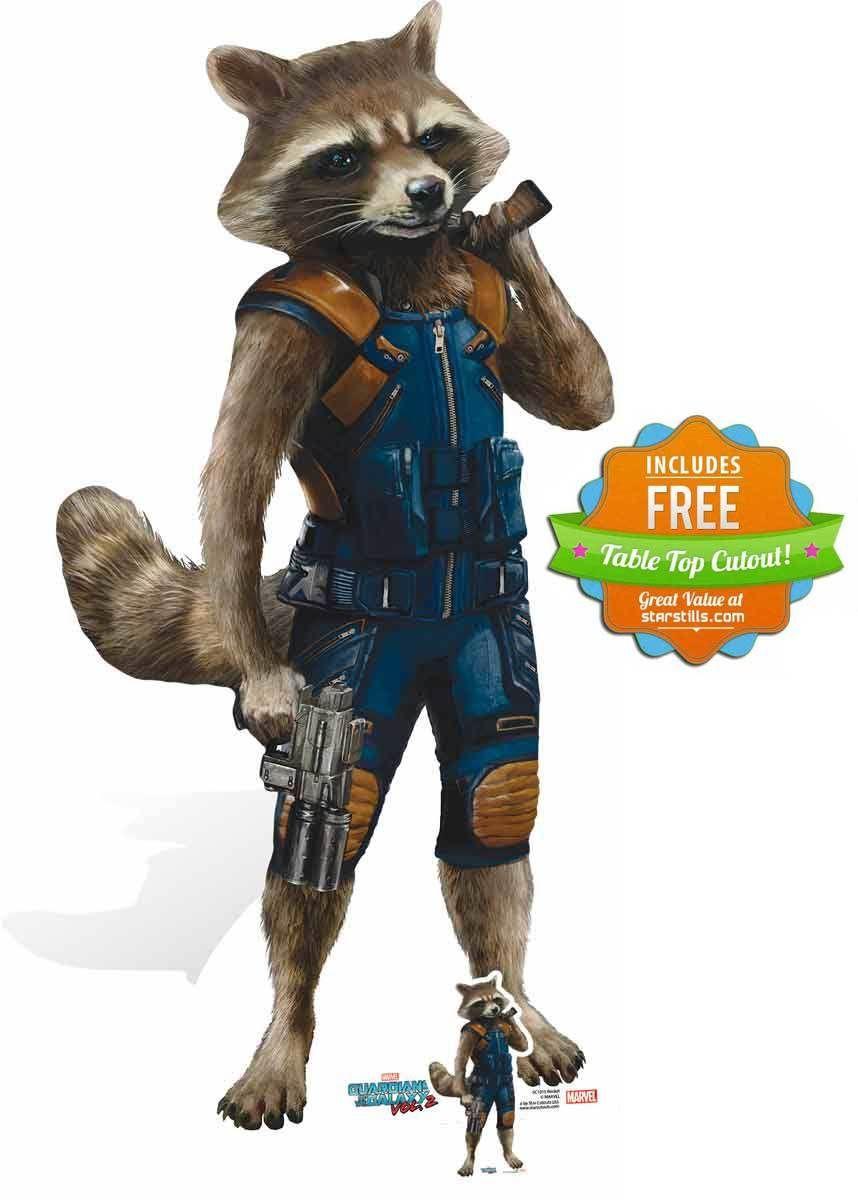 Rocket Raccoon Guardians Of The Galaxy Vol 2 Cardboard Cutout Standee Guardians Of The Galaxy Rocket Raccoon Raccoon