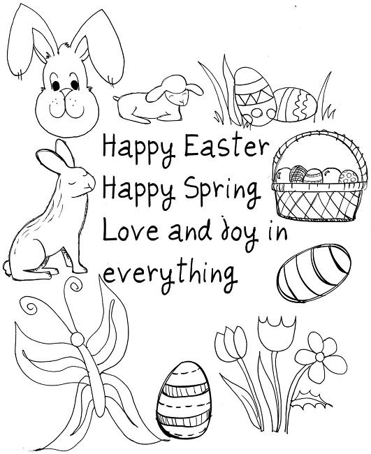 Easter Coloring Pages Toddlers