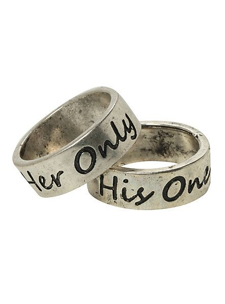 80a55b49ea LOVEsick His & Her Rings Set | Hot Topic | Accessories ...