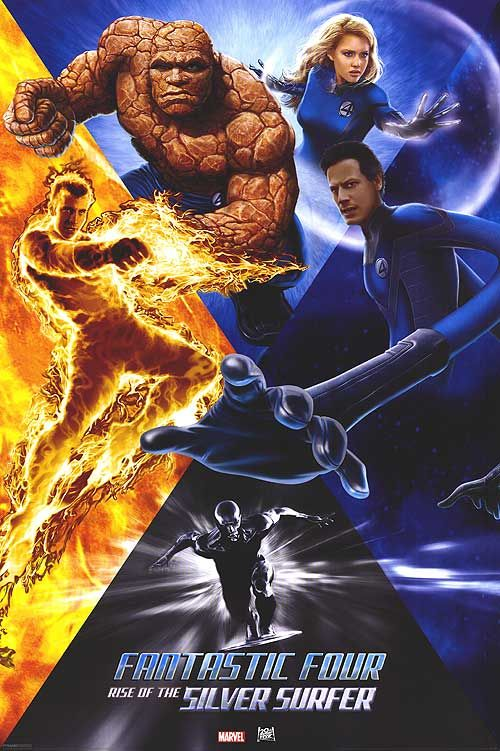Fantastic Four 2 Rise Of The Silver Surfer 2007 Silver Surfer Fantastic Four Poster