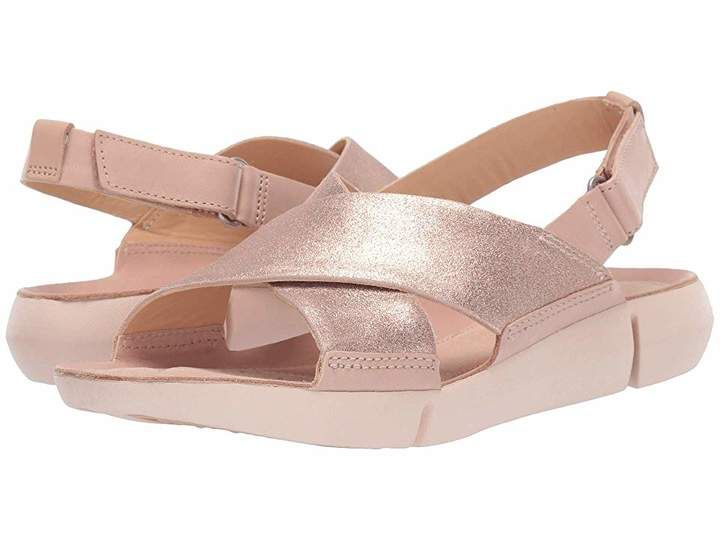 Clarks TRI CHLOE Sandals Women Shoes Strappy metallic