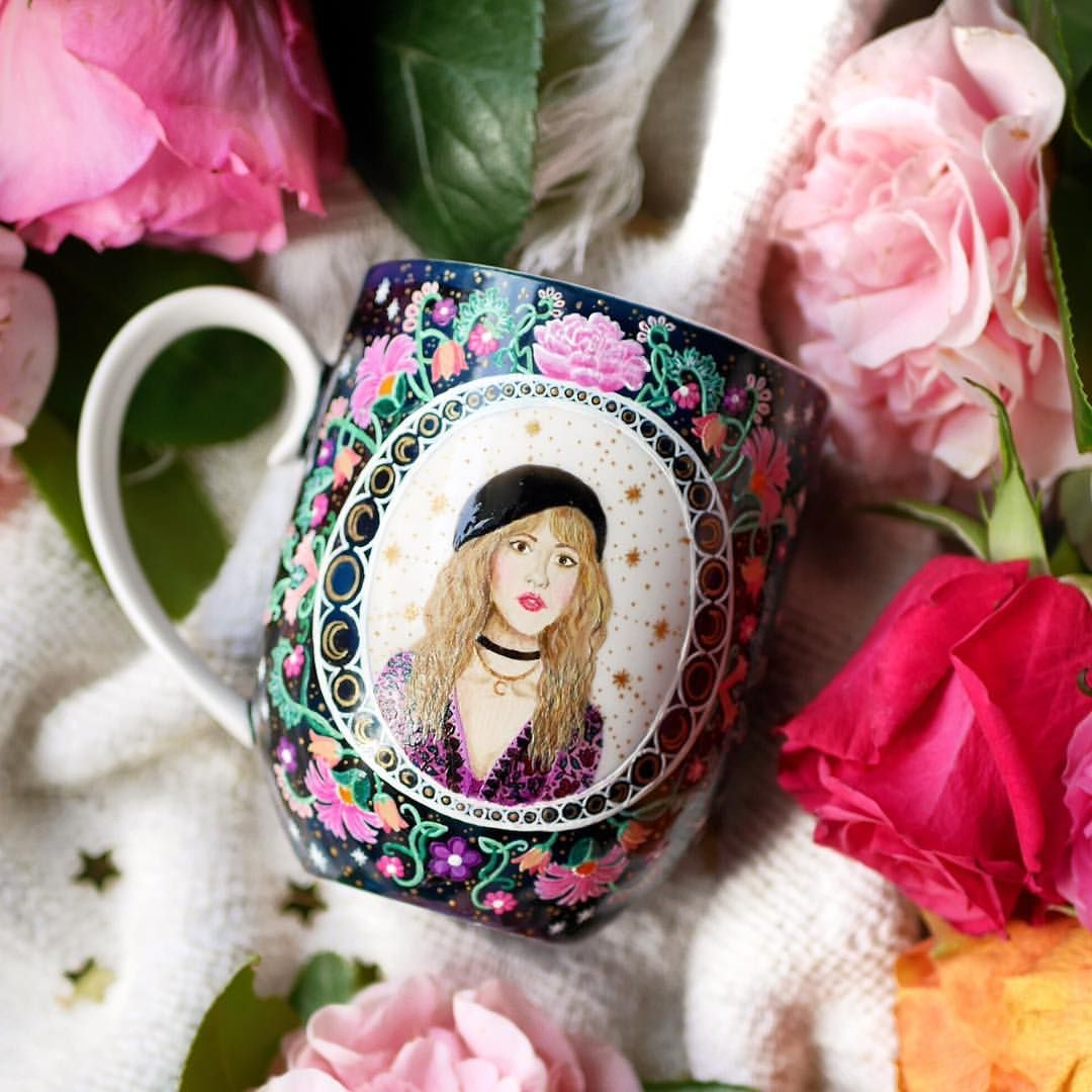 Hand painted stevie nicks mug by thequirkycupcollective