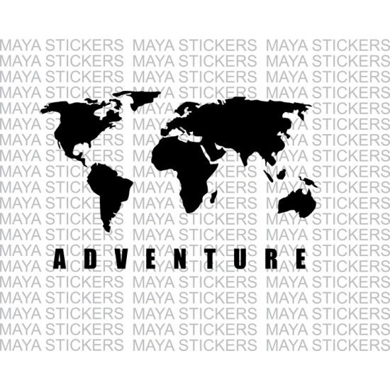 World map adventure sticker for re himalayan thar suvs and cars world map adventure sticker for re himalayan thar suvs and cars gumiabroncs Choice Image