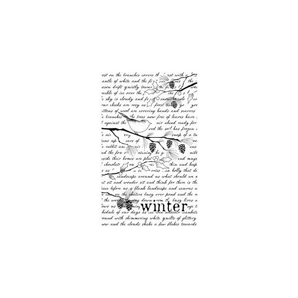 Memory Box-Wood Mounted Stamp-Winter Collage Background (210 MXN) ❤ liked on Polyvore featuring text, backgrounds, quotes, winter, words, filler, phrase and saying