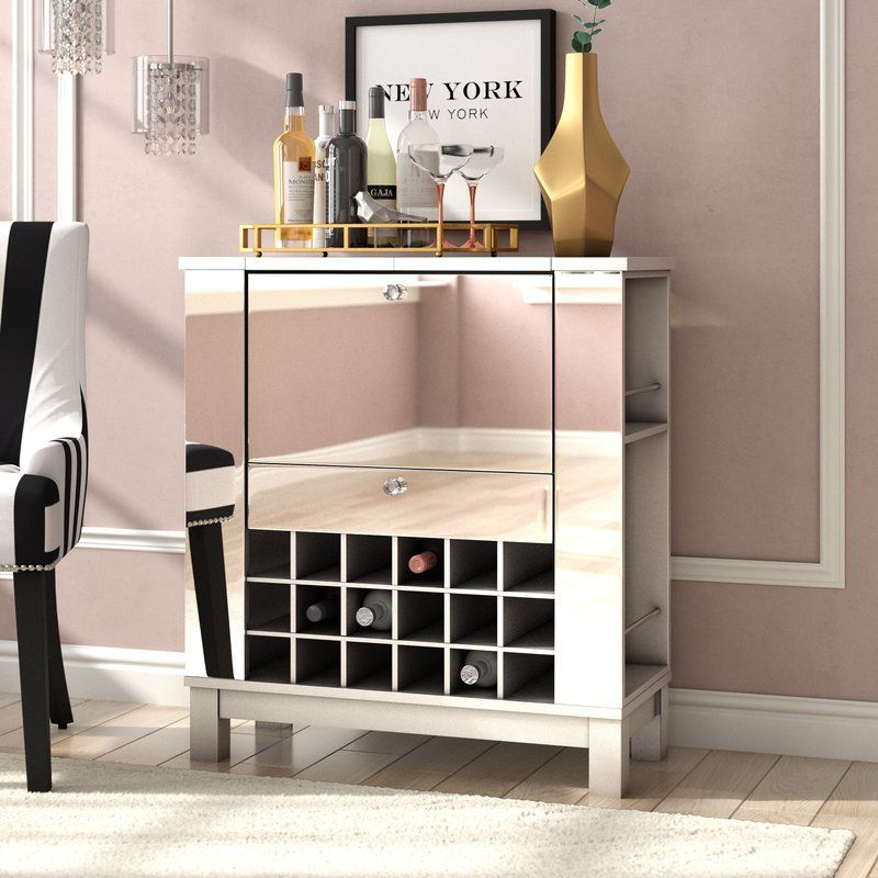 Willa Arlo Interiors Jettie Bar Cabinet Reviews Wayfair Mirrored Bar Cabinet Bar Cabinet Wooden Bar Cabinet