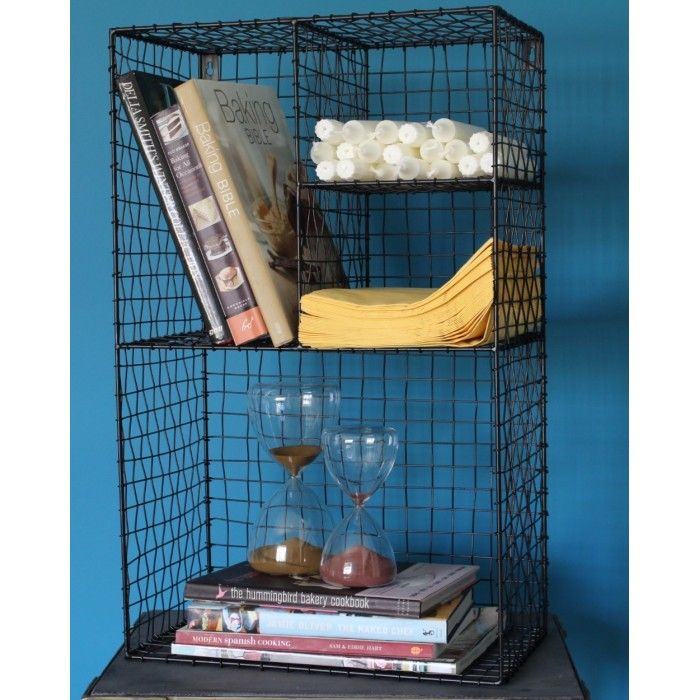 Locker Room Wire Shelf in Black. A fusion of function and retro ...