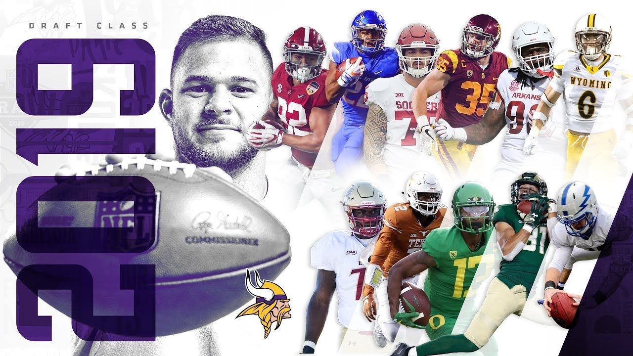 Purple People Eaters Vikings Draft Talk Did The Vikes Fill Enough Holes On O Line Nfl Funny Minnesota Vikings Football Vikings Football