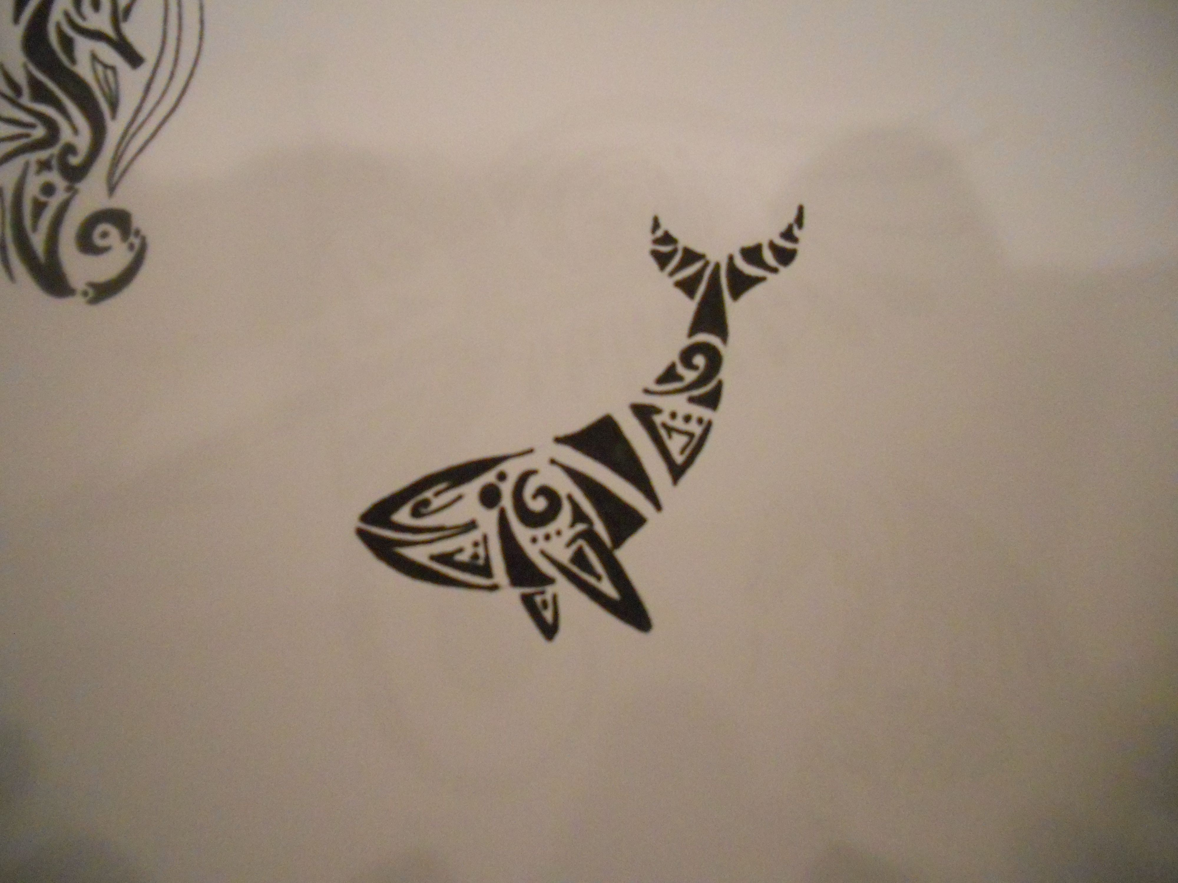 Tribal Whale Tattoo. My Sea Turtle Needs A Friend (With