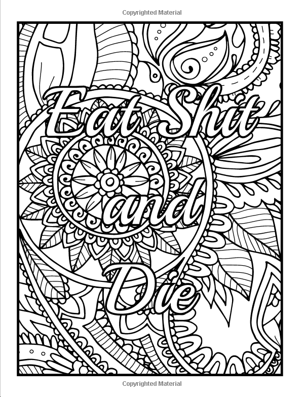 Coloring Pages For Adults Cuss Words : Amazon calm the fuck down and color an adult