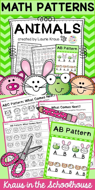 Math Patterns Worksheets Math Patterns Animal Activities For Kids Pattern Activities [ 1440 x 720 Pixel ]