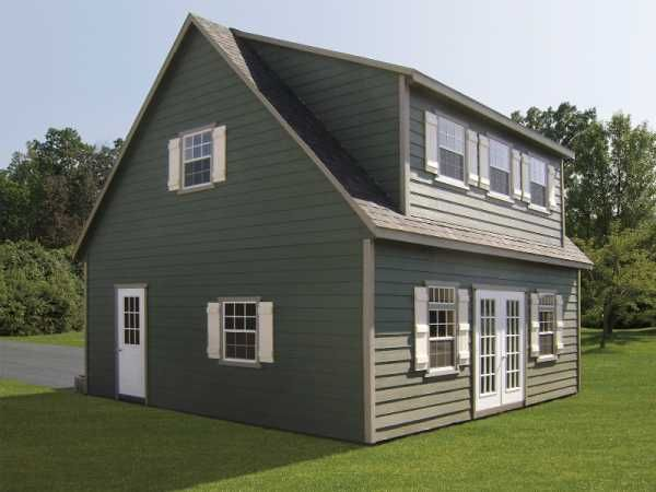 Two story dormer garage sheds pinterest house for 2 story shed house