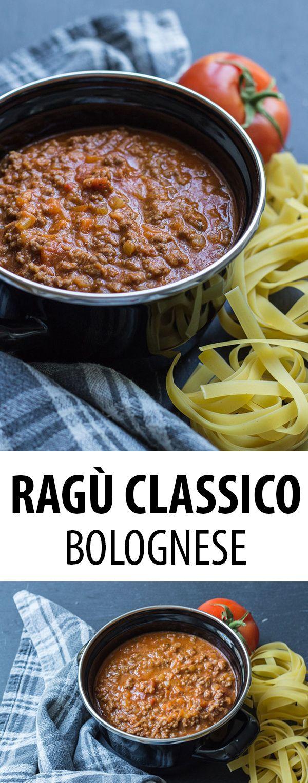 Das Originalrezept für Ragù Classico Bolognese aus Bologna, welches traditionell mit Tagliatelle gegessen wird. Aber auch für Lasagne al Forno verwendet man dieses Rezept in Italien. #bolognesesauce